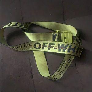 Off-White Yellow Gold Belt